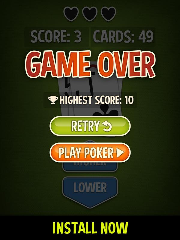 Higher Lower - Hi Lo Free APK Download - Free Card GAME ...