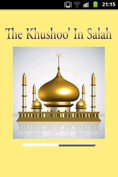 33 ways of  khushoo in salah poster