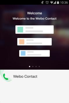 weibo contact poster