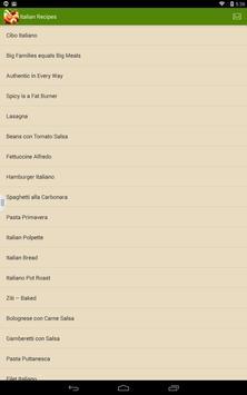 Great Italian Recipes apk screenshot