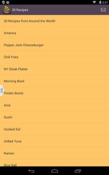 Recipes from Around the World apk screenshot