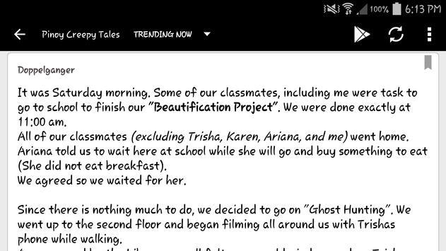 Pinoy Creepy Tales apk screenshot