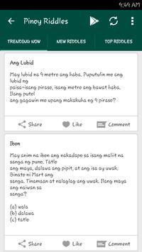 Pinoy Riddles apk screenshot