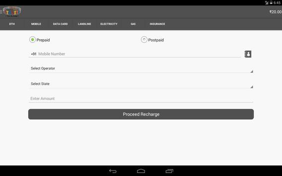 YourRecharge Customer apk screenshot