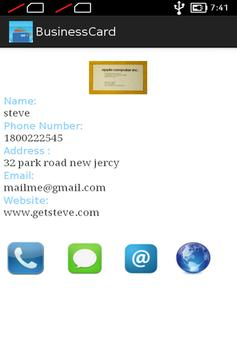 Business Card apk screenshot
