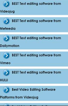 Best Video Editing Software apk screenshot