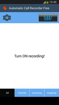 Automatic Call Recorder Free apk screenshot