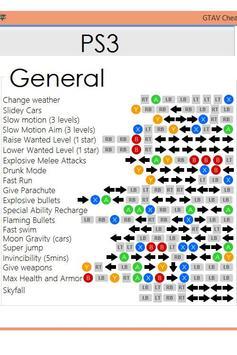 Cheats for GTA V 5 poster