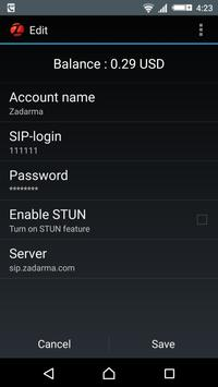 Zadarma SIP apk screenshot