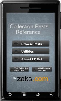 Collection Pests Reference poster
