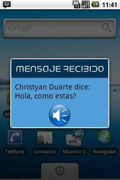 Mi Lector SMS apk screenshot