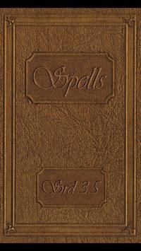 Spellbook - D&D 3.5 poster