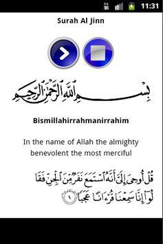 Surah Al Jinn Mp3 apk screenshot