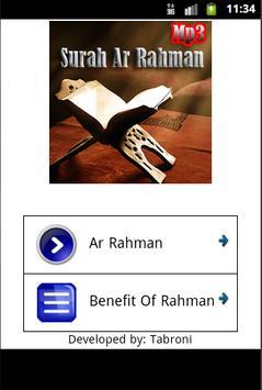 Surah Ar Rahman Mp3 Quran poster