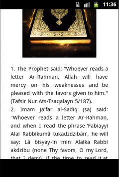 Surah Ar Rahman Mp3 Quran apk screenshot