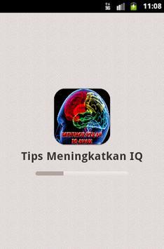Tips Meningkatkan IQ poster