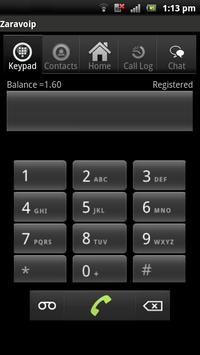 Zaravoip apk screenshot