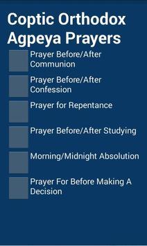 Coptic Agpeya Prayers poster
