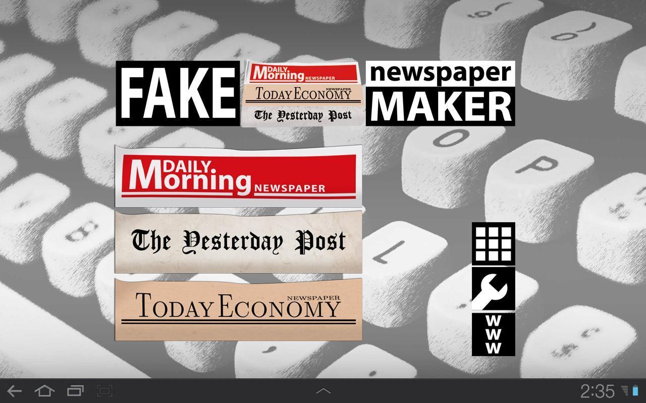 Newspaper maker free