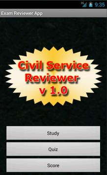 Phil. Civil Service Reviewer poster