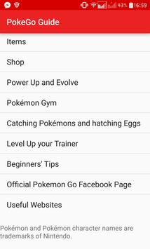 Ultimate Guide For Pokemon Go apk screenshot