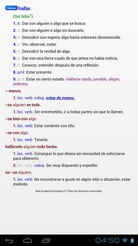 Spanish RAE dictionary apk screenshot