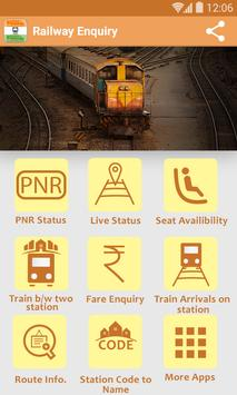LIVE Railway Train Enquiry poster
