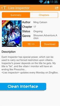 ZingBox Manga apk screenshot