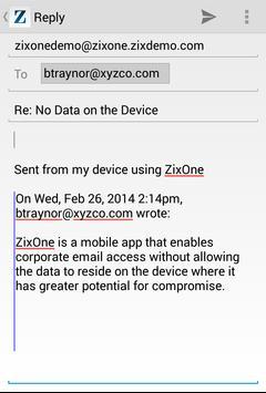 ZixOne apk screenshot