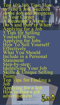 Job seeking & Interview Tips apk screenshot