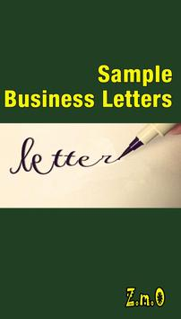 Sample Business Letters poster