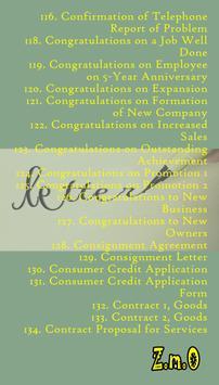 Sample Business Letters apk screenshot