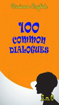 100 Common Dialogues- Business poster
