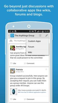 Zoho Connect apk screenshot