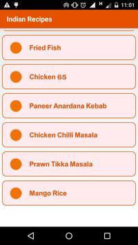 Indian Recipes Free apk screenshot