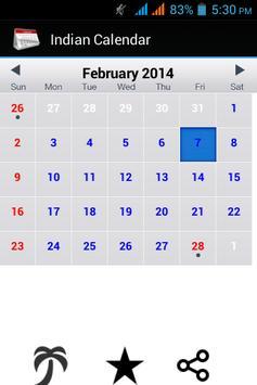 Indian Calendar 2014 poster