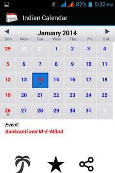 Indian Calendar 2014 apk screenshot