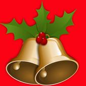 christmas scene decorations icon