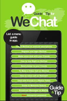 Guide for WeChat Message, Call poster