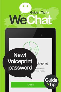 Guide for WeChat Message, Call apk screenshot