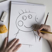How to draw Peppa & Anime pro icon
