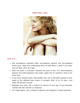 Body Care poster