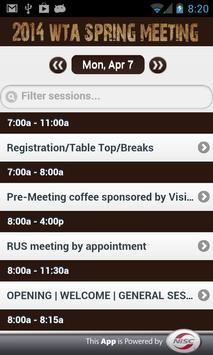 WTA Spring Meeting 2014 apk screenshot