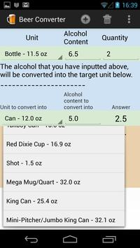 Alcohol & Beer Converter apk screenshot