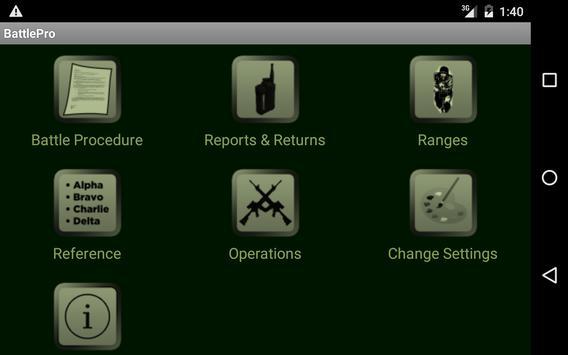 Battle Procedure Aide Memoire apk screenshot