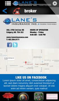Lane's Insurance apk screenshot