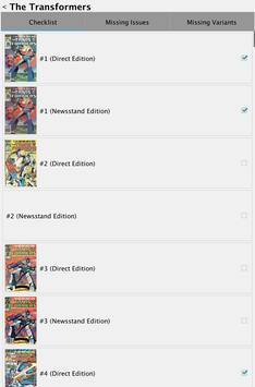 Comic Checklist Lite apk screenshot