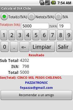 Calcula el IVA Chile apk screenshot