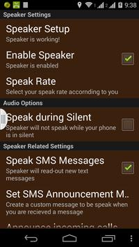 SMS/NAME ANNOUNCER apk screenshot