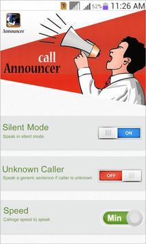 Name speaker for caller's poster